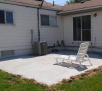 Backyard Cement Patio