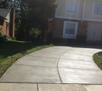 Curved Cement Driveway